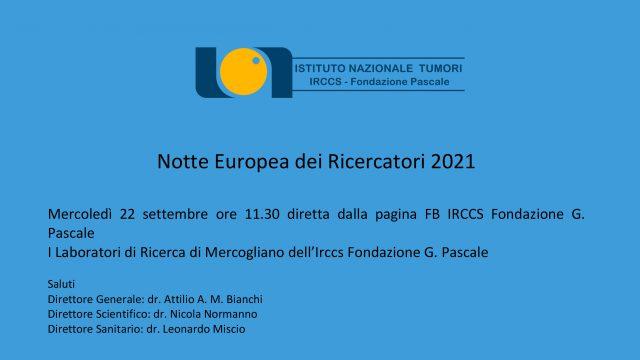 Mercoledì 22 settembre ore 11.30 diretta dalla pagina FB IRCCS Fondazione G. Pascale