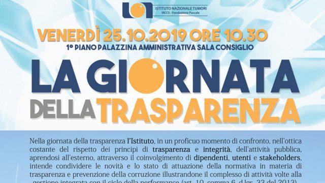 25.10.2019// La giornata della trasparenza