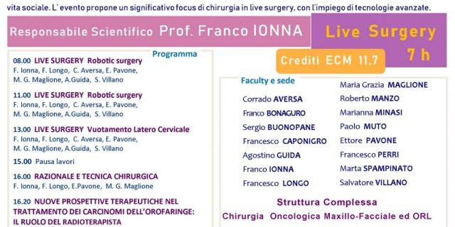 Approccio Multidisciplinare al Paziente oncologico in Chirurgia Cervico – Maxillo – Facciale.