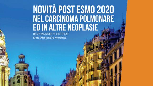 """Il primo ottobre, in modalità webinar, si terrà l'evento """"Novità post ESMO 2020 nel carcinoma polmonare ed in altre neoplasie"""""""