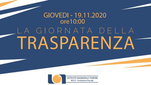 19.11.2020 ore 10.00 // La giornata della trasparenza
