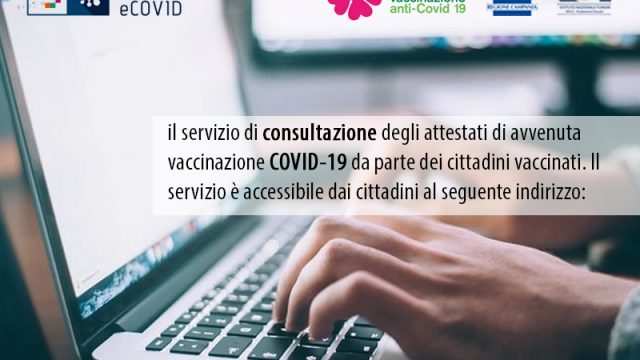 Attestati di avvenuta vaccinazione COVID-19 da parte dei cittadini vaccinati.